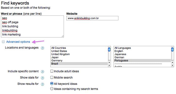 Como configurar o Google Adwords para português do Brasil