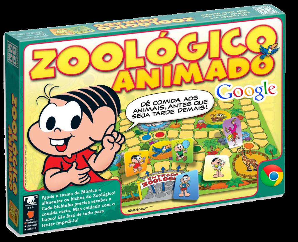 montagem do jogo Mônica com logos Google