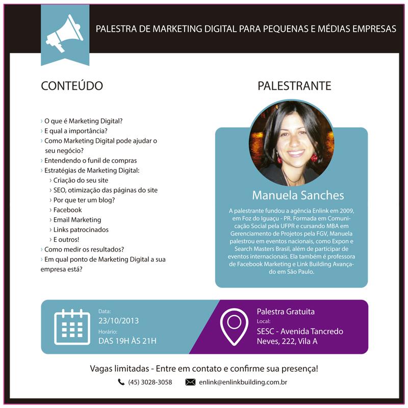 Palestra Marketing Digital para PME